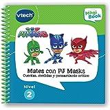 VTech MagiBook PJ Masks, Libro Interactivo Educativo Que refuerza el Aprendizaje en Diferentes materias,