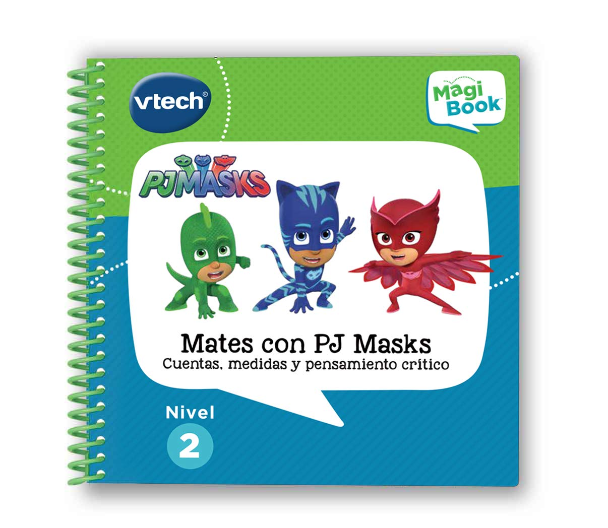 3480//–/480122 VTech/ /PJ Masks magibook Livre interactif /éducatif Qui renforce lapprentissage en diff/érentes mati/ères /à Travers de Plus de 40/activit/és et 4200/Interaction