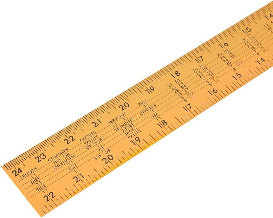 L-Square Ruler, Easy to Use Wide Application Try Square, for Carpentry Hardware Construction Marking Tools Carpentry Squares Construction Rulers(Black) Yellow