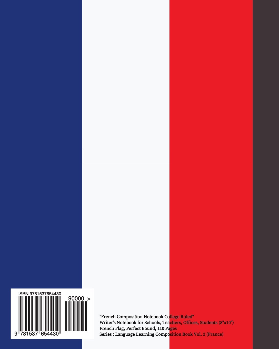 amazon com french composition notebook college ruled writer u0027s