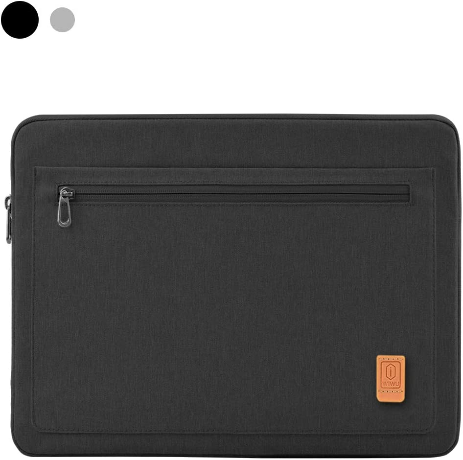 WIWU Laptop Sleeve Compatible with 13-13.3 inch Laptop,MacBook Pro, MacBook Air,Chromebook,Dell,Hp,360 Waterproof Protective Laptop Sleeve with Accessory Pocket, Black.