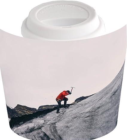 Taza de café con montaña escalada, montaña alpinista: Amazon ...