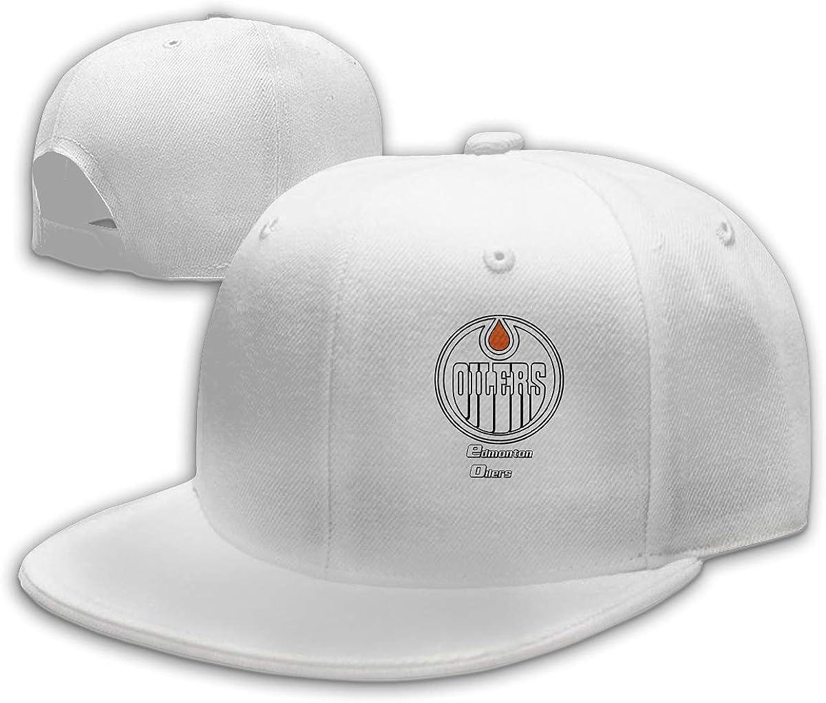 Celes Stein Adult Sketch-Logo-Edmonton-Oilers Adjustable Dad Snapback Cap