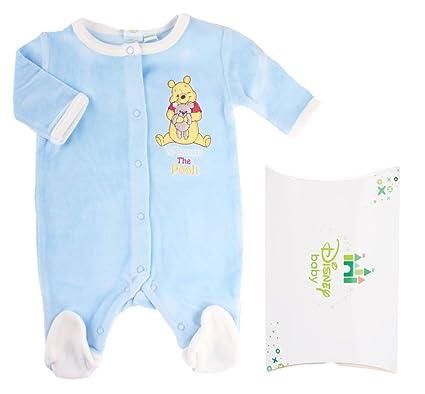 Pijama con Caja Regalo bebé niño Winnie the Pooh azul 0 Meses