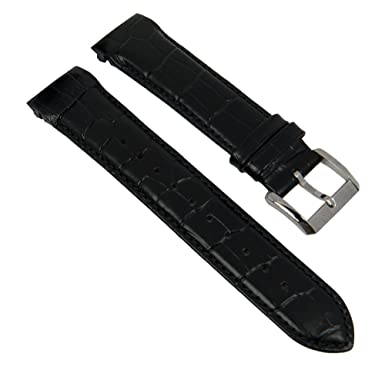 mens replacement watch strap leather band 22 mm black hugo boss mens replacement watch strap leather band 22 mm black hugo boss 26989s croc