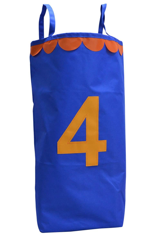 VNOM ポテトサック レースバッグ 誕生日パーティーや家族の同窓会に最適 子供と大人用 高さ24.5インチ x 幅18.5インチ 明るいアソートカラー 頑丈で頑丈 B07H8R9M94 ブルー ブルー