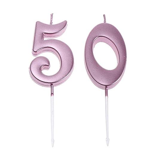 Amosfun Velas de cumpleaños con números para Tartas ...