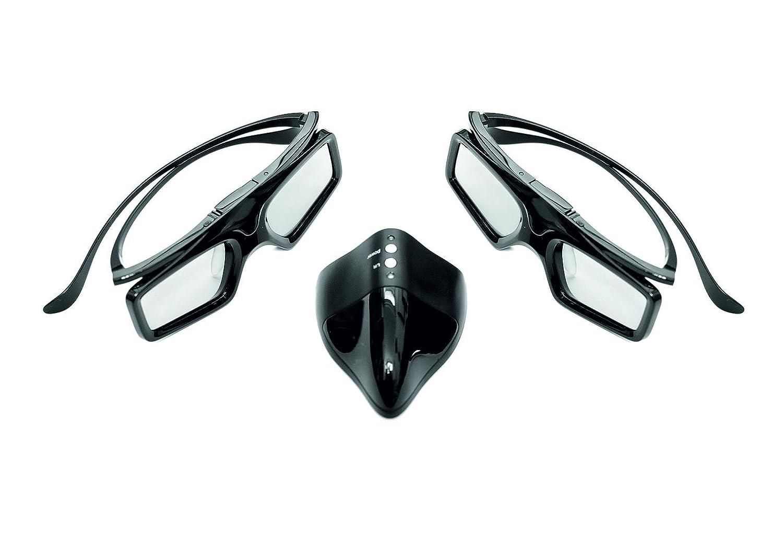 "HI-shock ® Advance RF 3d KIT PER OPTOMA 3d sistema /""Black Onyx/"" Occhiali /& emettitore"