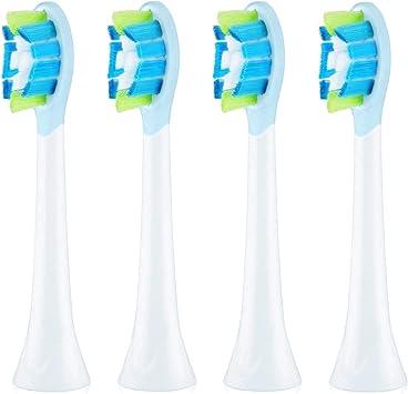 C2 - Cabezales de repuesto compatibles con cepillo de dientes eléctrico Philips Sonicare (4 unidades): Amazon.es: Salud y cuidado personal