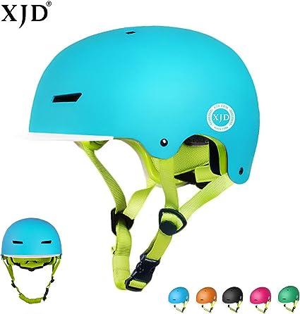 XJD Casco Bicicleta para Niños Ajustable con Certificación CE Resistencia al Impacto con Visera Extraíble para Ciclismo BMX Monopatín Patines sobre Rueda para niños de 3 a 8 años(Azul, M): Amazon.es: Deportes