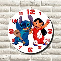 Lilo & Stitch 11.8'' Handmade MAGIC WALL CLOCK FOR DISNEY FANS made of acrylic glass - Get unique décor for home or office – Best gift ideas for kids, friends, parents and your soul mates