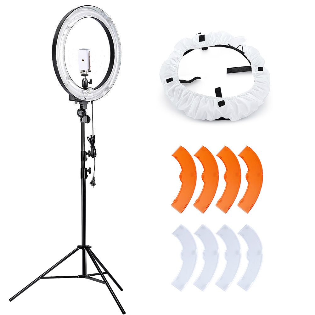Neewer Camera Photo Video Lighting, 18 Inches Sin Fuente