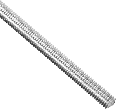 Right Hand Threads Fully Threaded M5 x 500mm Rod 304 Stainless Steel