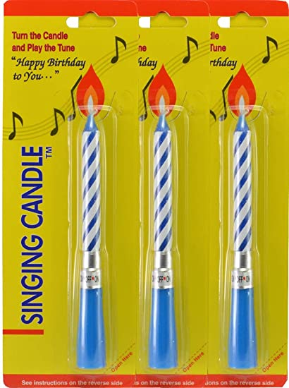 Image Unavailable Not Available For Color Incrediblegifts Singing Musical Happy Birthday Candles