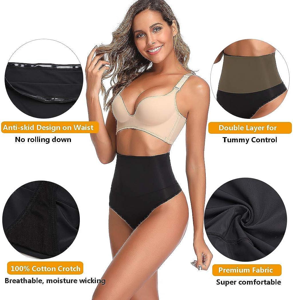 Joyshaper Shapewear Thong for Women Tummy Control Underwear High Waist Thong Knickers Slimming Cincher Girdle Panties Butt Lifter Briefs Body Shaper