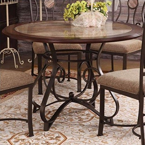 ACME Furniture Barrie Dining Table in Cherry Oak and Dark Bronze by Acme Furniture