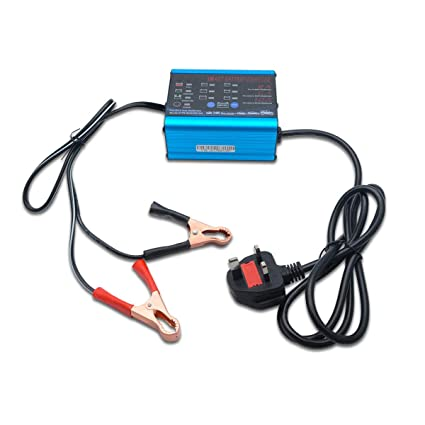Cargador de batería automático, 2 A/10 A, 6 V/12 V, cargador ...