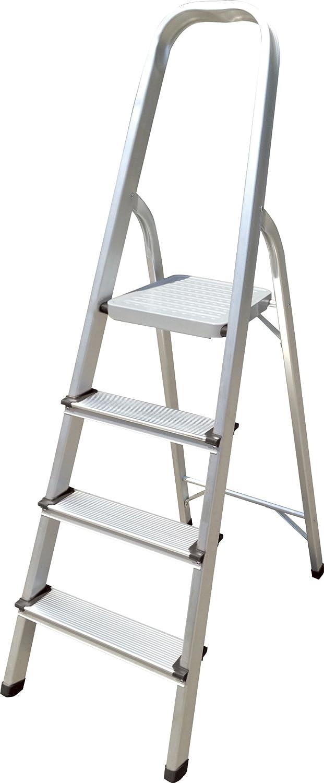 Hyfive Aluminium 4 Leiter mit rutschfeste Trittstufen Lightweight Aluminium EN 131