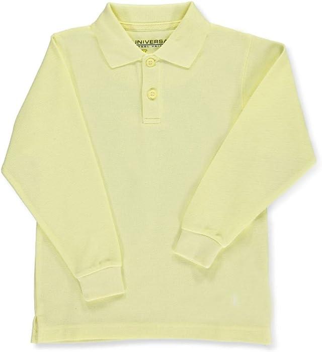 8f3e51ad Amazon.com: Universal Little Boys' Toddler L/S Pique Polo - yellow, 3t:  School Uniform Polo Shirts: Clothing