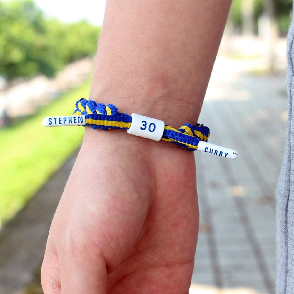 ② Stephen Curry Basketball Team Star Wristband Hand Weave Adjustable Shoelace Bracelet
