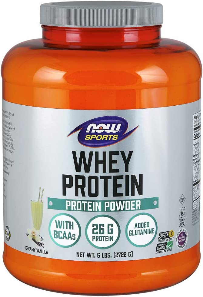 NOW Sports Nutrition, Whey Protein Powder, Creamy Vanilla, 6-Pound