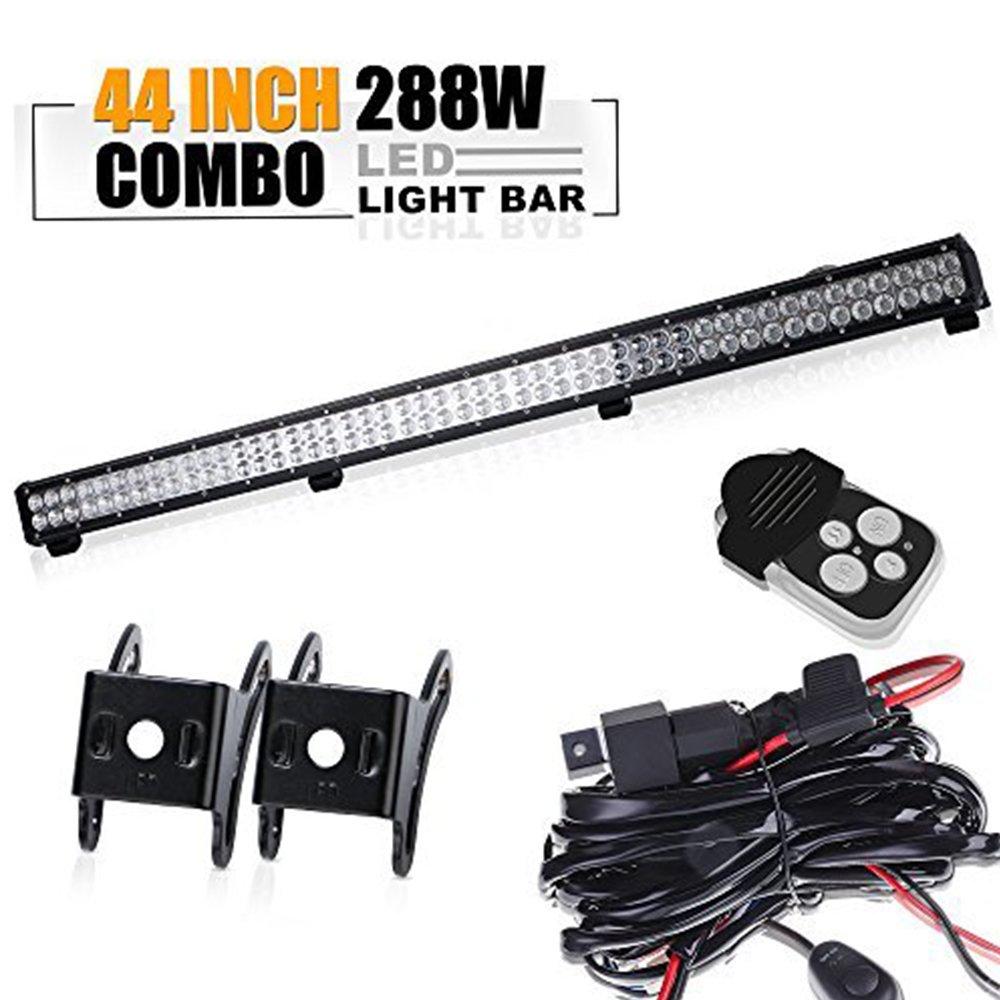 Land Rover Defender Led Light Bar Set With Brackets 288w 39 Wiring Harness Kit