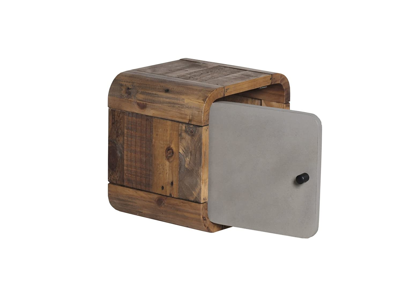 Woodkings/® Badregal Dingle 30x30 Holz Pinie Natur rustikal und MDF in Betonoptik grau Badregal Regal W/ürfel Badm/öbel Badezimmerm/öbel