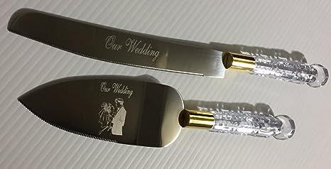 Amazon.com: Nuestro – Juego de cuchillos para tarta de boda ...