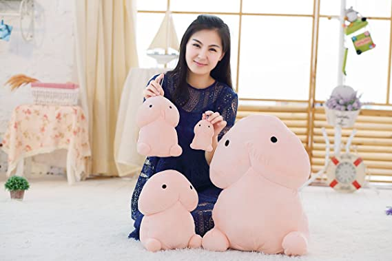 Novelty Soft Stuffed Plush Penis Toy Doll Cute Cushion Throw Pillow Home Decor