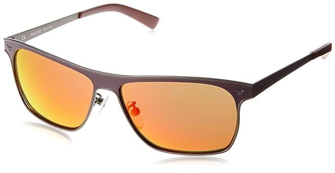 a25f4a3353 Police Mirrored Square Unisex Sunglasses - (S8948M58S69RSG