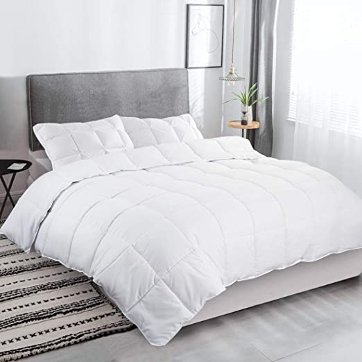 7.5 and 10.5 Tog Hollowfibre Percale Soft Comfort Duvet Tog–Quilt All Sizes 4.5