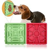 Dotee - Cuenco de silicona para perro con ventosa para baño de mascotas, cuidado y alivio de la hinchazón, comida lenta…