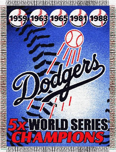 MLB Los Angeles Dodgers Commemorative Acrylic Tapestry Throw Blanket