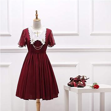 Vestido de niña, vestidos de manga corta Lolita, desfile plisado vestidos, camisa JSK