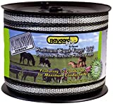 Parker 963 7/8 in. 492 ft. Platinum Series Super Heavy Duty Electric Fence Tape, Silver