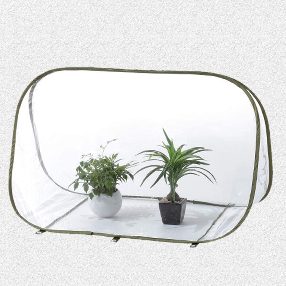 DAMEING Garden Mini Greenhouse PVC Flower House Greenhouse Cover for Cold Frost Protector Gardening Plants Small Indoor Outdoor Gardening Flowerpot Cover for Winter Backyard Greenhouse Cover