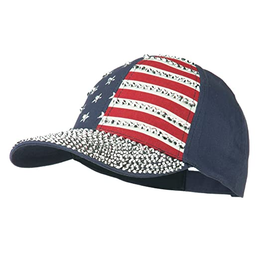 SS Hat American Flag Rhinestone Jeweled Cap - Navy OSFM at Amazon ... 1badf044ce3