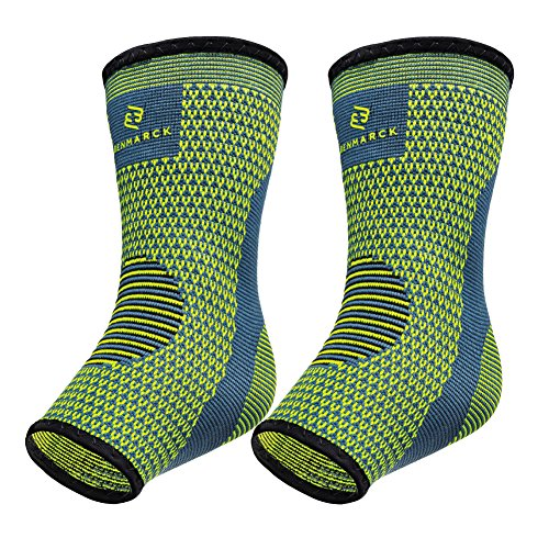Benmarck Achilles Tendon Support Brace, Plantar Fasciitis Sock, Ankle Compression Sleeve for Running, Tendonitis and Flat Feet Relief