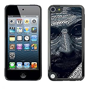 Soft Silicone Rubber Case Hard Cover Protective Accessory Compatible with Apple IPod Touch 5 - Abstract Steve J Pattern