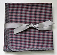 Gentleman's Checkered Casual Hankie Soft, Brushed Cotton Handkerchiefs Medium Size 12x12 inch size, Set of Four