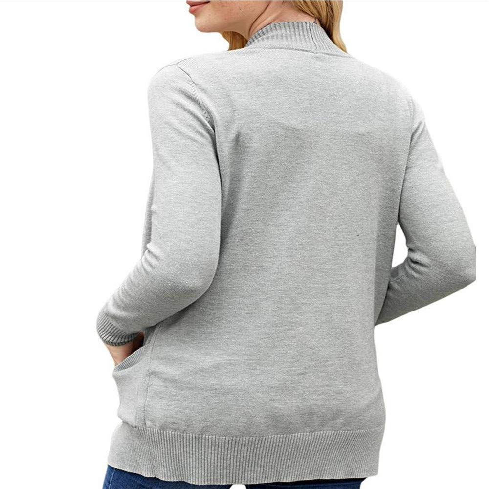 MAZF Autumn and Winter Long Sleeve Pocket Womens Knitted Sweater