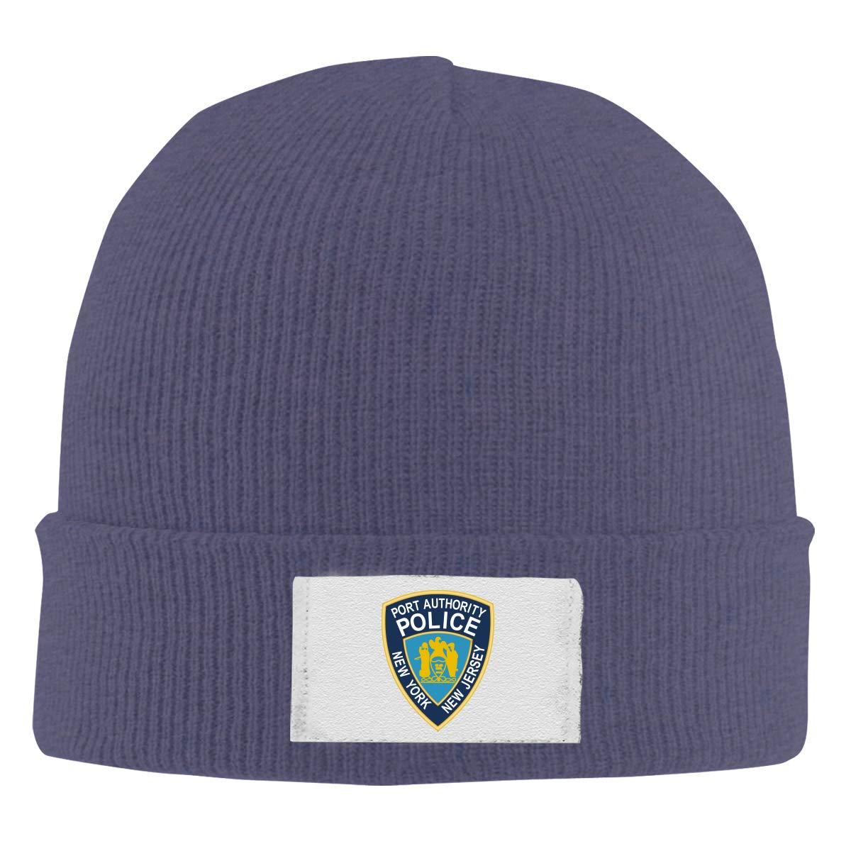 Stretchy Cuff Beanie Hat Black Dunpaiaa Skull Caps New Jersey State Police Logo Winter Warm Knit Hats