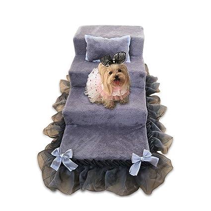 NYDZDM Escaleras de mascotas Cama de la Princesa Perritos pequeños para Perros Escalera de la Perrera