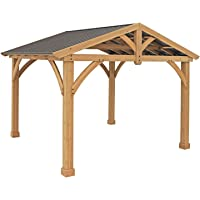 Yardistry 11' x 13' Wood Pavilion with Aluminum Roof
