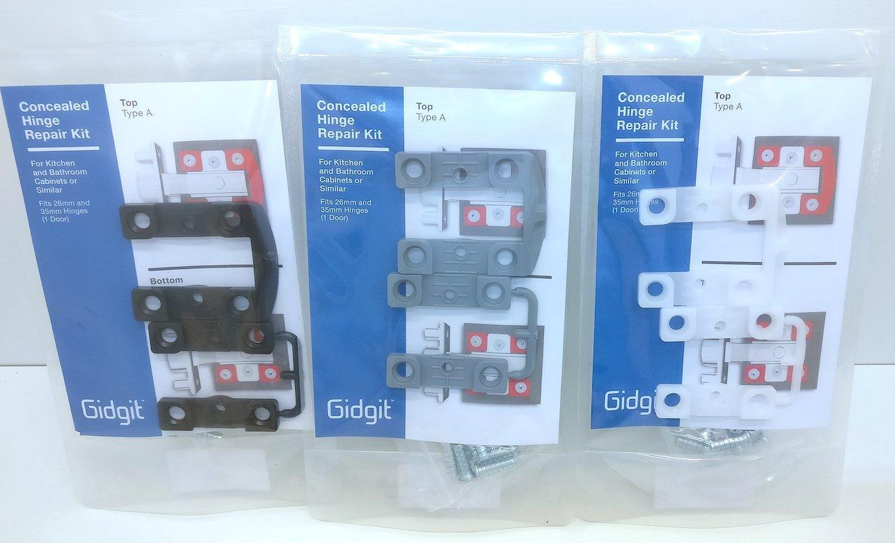 Concealed Hinge Repair Kit (Grey): Amazon.co.uk: DIY & Tools