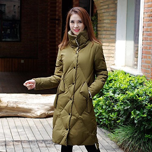 And Coat Bread Sau Xuanku Long Flow Cotton Versatile green Army Winter The Cotton Clothing Jacket Winter Simple xqwPfXFYw