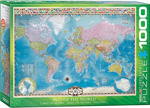 EuroGraphics Map of The World Puzzle (1000-Piece)