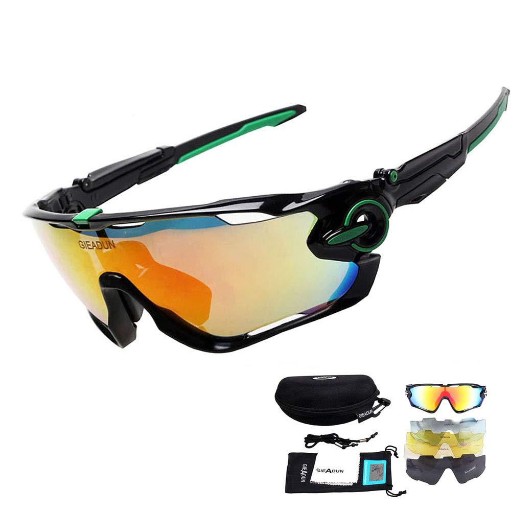 HTTOAR Gafas de Sol uv400 Bicicleta Gafas Deportivas para Hombres y Mujeres (Black Green): Amazon.es: Deportes y aire libre