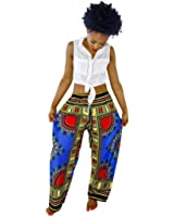Mosunx(TM) Women Summer Casual Bohemia Traditional African Print Wide Leg Pants