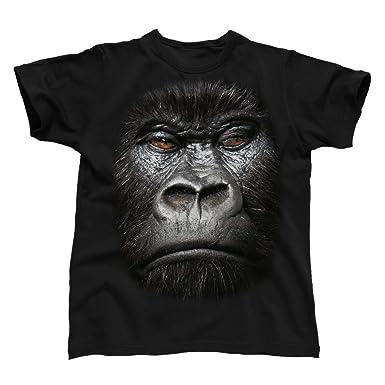 445fe42ead Big Face Animal Gorilla, Men's T-Shirt: Amazon.co.uk: Clothing